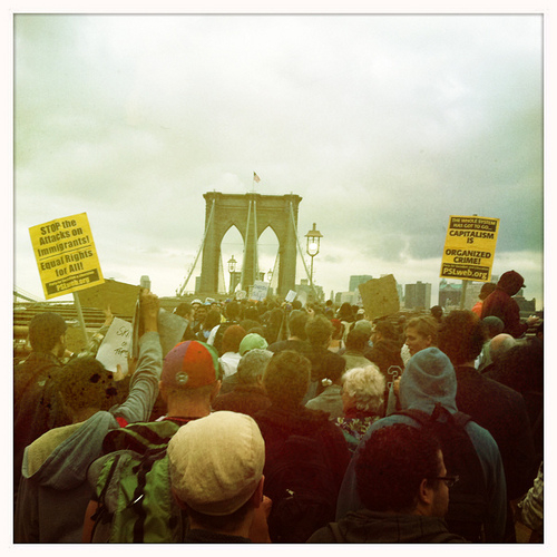OWS Brooklyn Bridge via Michael Whitney flickr