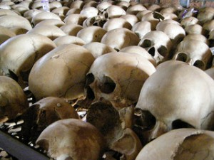 This memorial in Rwanda shows the scope of crime in this discussion. Photo by configmanager via flickr.