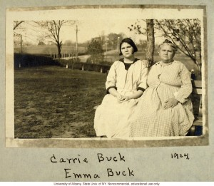 Carrie E. Buck and her daughter Emma. Photo courtesy the University of Albany, licensed for non-commercial use.