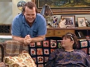 Roseanne Barr and Tom Arnold Screenshot via USA Today