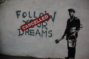 Photo of Banksy artwork in Boston, MA by Chris Devers via flickr CC. Click for original.