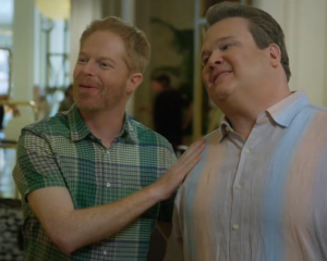 "On ""Modern Family,"" Cam and Mitchell are just another bumbling couple. They're part of the new cultural acceptance of same-sex partnerships. Screenshot of ""Las Vegas,"" aired 3/26/2014."