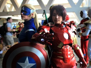 Gender-swapped Captain America and Iron Man at Comic Con. Photo by Jim H. via Flickr CC.