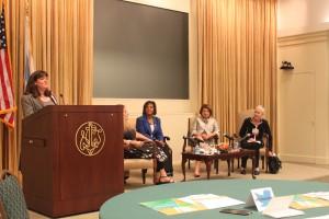 Panelists with Board Chair Lisa Pattis