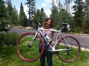 Tina Pittman Wagers finished a triathlon one year and six weeks ago.