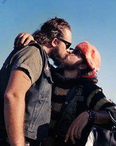 Deep kissing was an expression of brotherhood among Hells Angels gang members. thisisthewhat