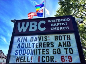 WBC sign on Kim Davis
