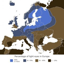 Eye Color Map of Europe - In color!