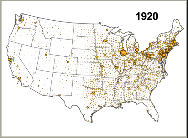 Us Population Growth 1790 1990 Freeze Frame At 1920 University Of Kentucky Appalachian Center