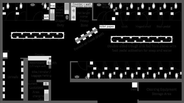 Stadium Variety Bathroom of the Future | Molotch and Nor&ecute;n