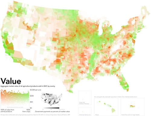 American Agricultural Value map | Bill Rankin, Radical Cartography