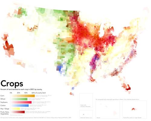 American Cropland map | Bill Rankin, Radical Cartography