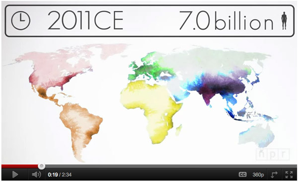 Visualizing How A Population Grows To 7 Billion | NPR [Click for video]