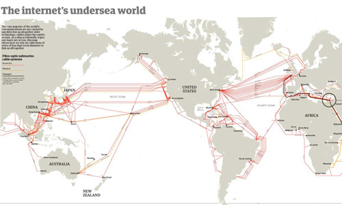 The internet undersea world | Thumbnail from the Guardian