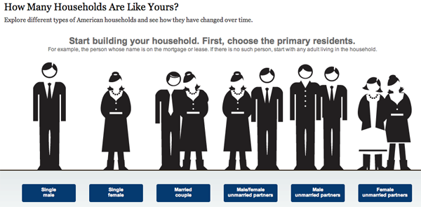 How many households are like yours infographic.