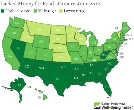 US food security map | Gallup via Marketplace.org