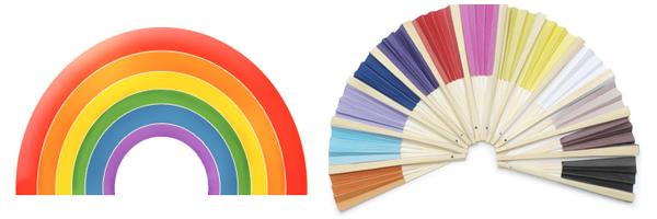 Rainbow and Fan