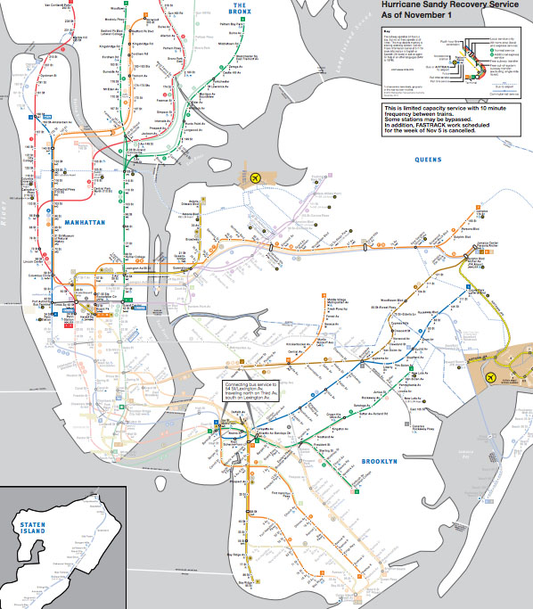 Working New York City Subway Map Graphic Sociology