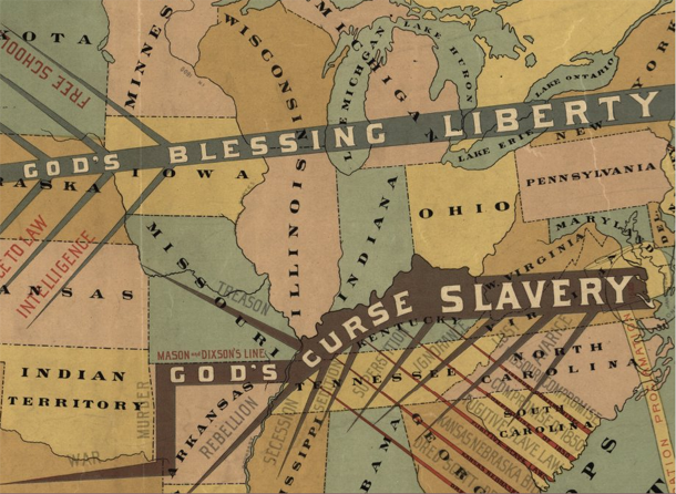 Close-up of antebellum historical geography map | John Smith