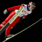 Lindsey Van at the Ski Jumping World Championships in 2009.