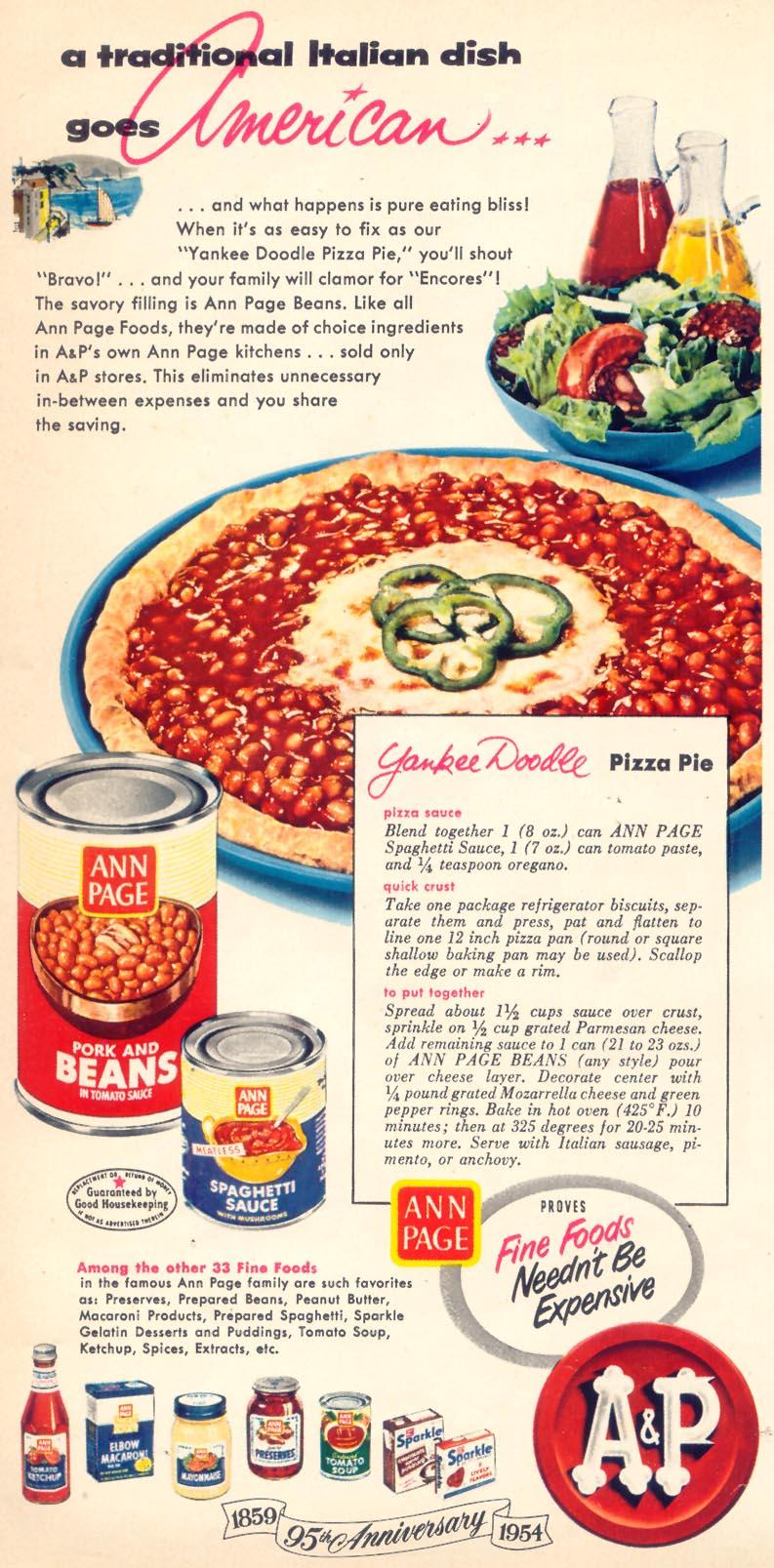 Yankee Doodle Pizza Pie, Women's Day, October, 1954