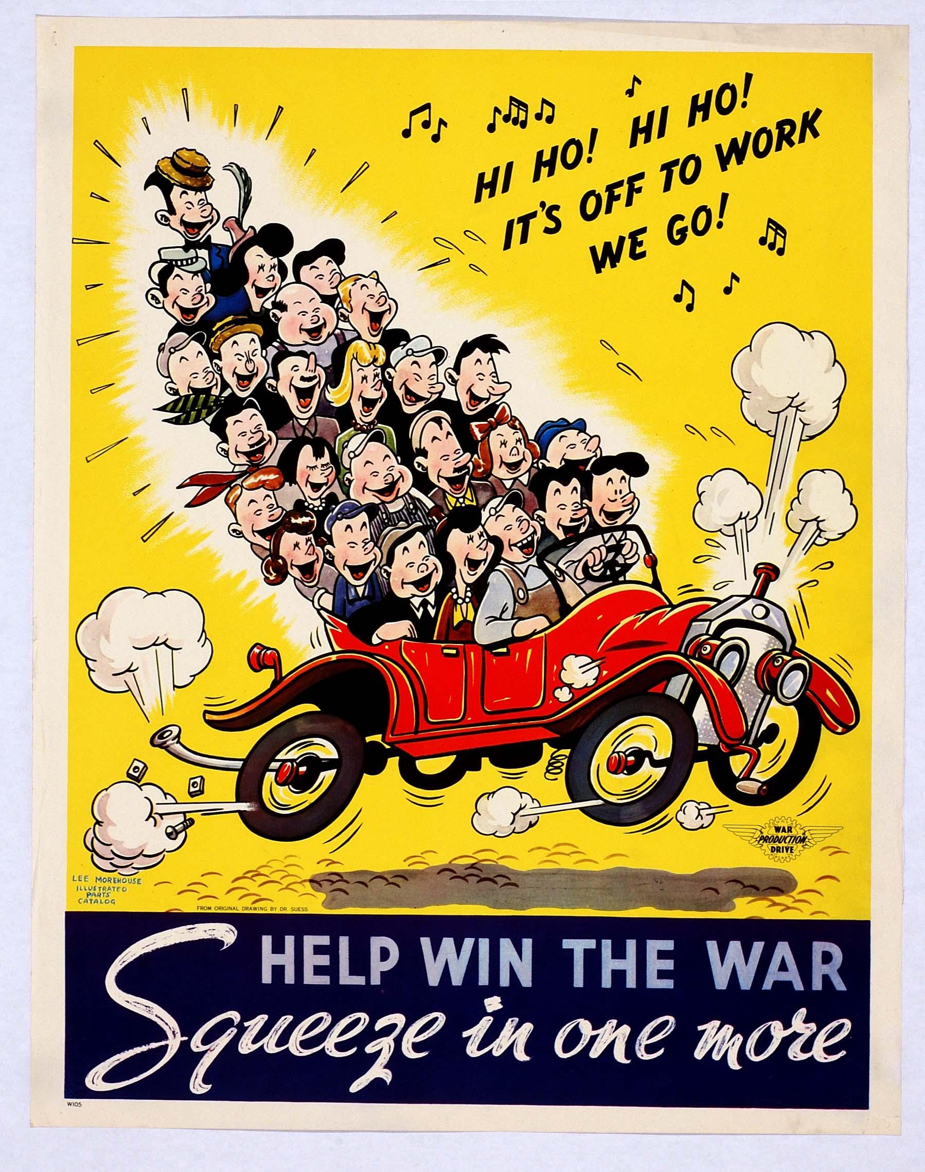 World War II Carpool Propaganda - Sociological Images
