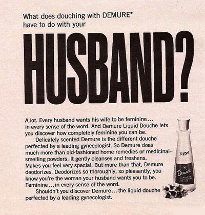 vintage zonite douche ads sociological images. Black Bedroom Furniture Sets. Home Design Ideas