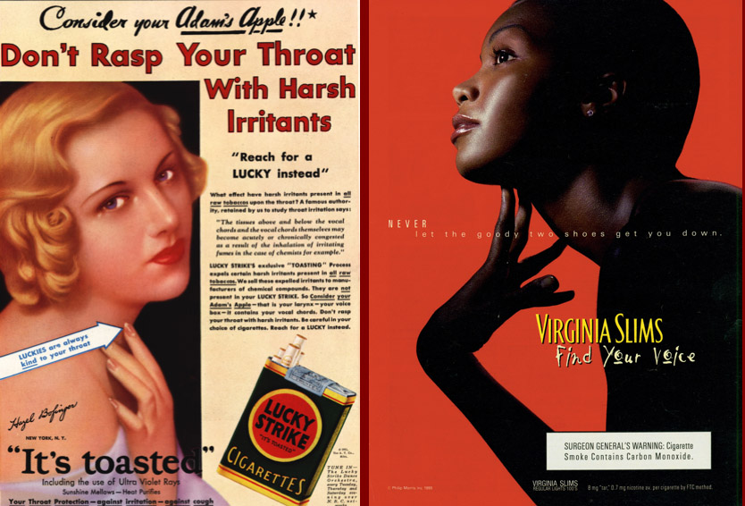 Cigarette Ads: Then and Now - Sociological Images