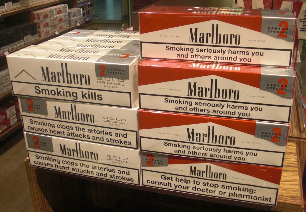 Carton of cigarettes duty free