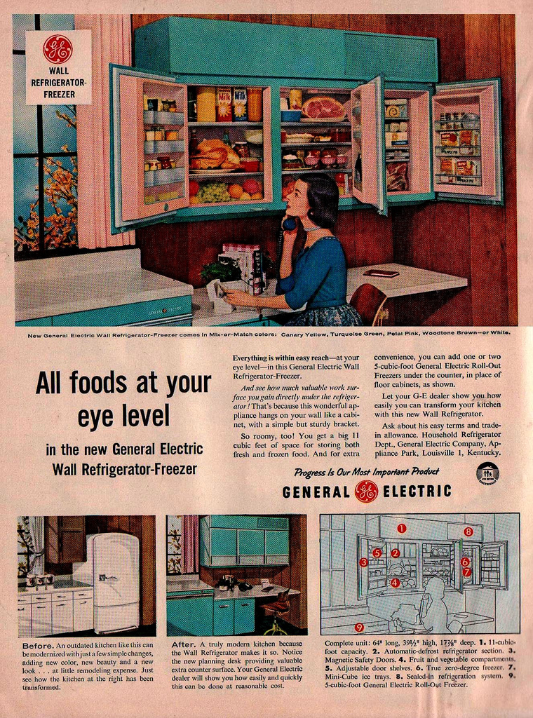 Wall Cabinet Refrigerator (1956) - Sociological Images