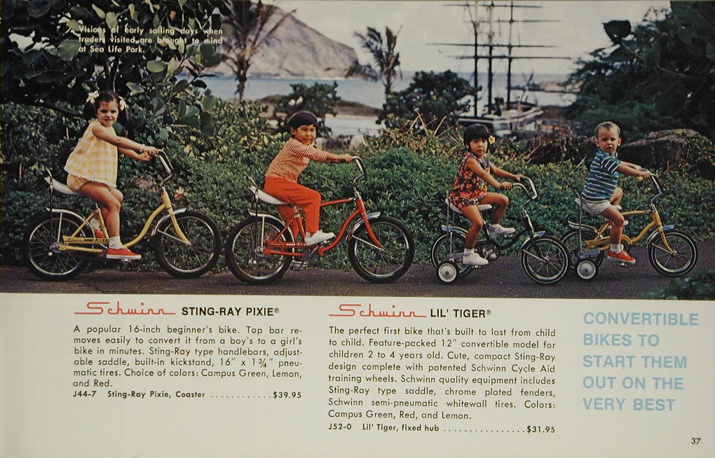 "7c41f3551ca This ad from 1971 assures parents that ""girl bikes"" can be converted to  ""boy bikes"" and vice versa. The upper bar is purely ""decorative,"" but boys  ..."