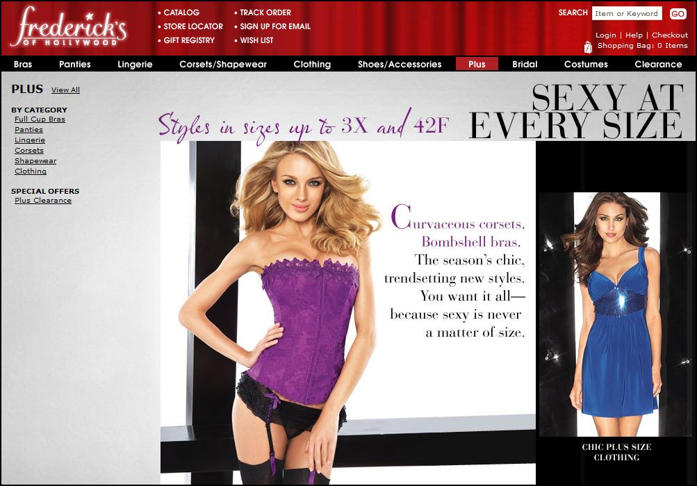 Catalogs Clothes And Representation Plus Size At Fredericks