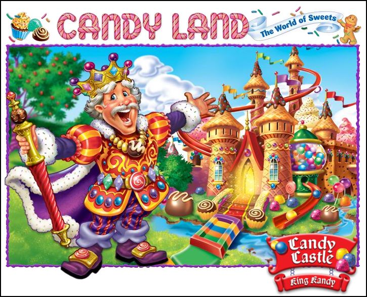 You tell Candy land toys