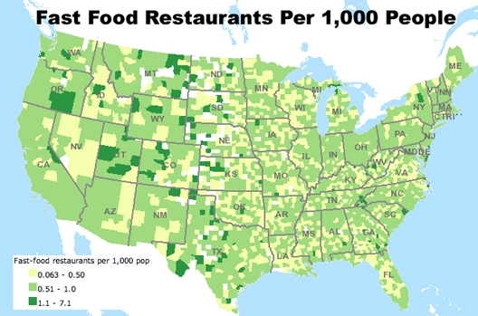 Food Atlas What Are We Eating and Where Sociological Images