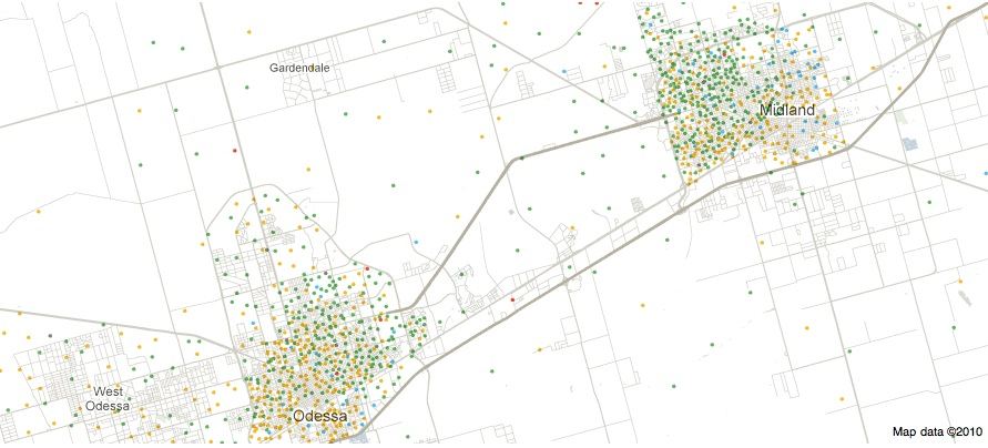 Interactive Maps Of US RacialEthnic Distributions - Racial map of us