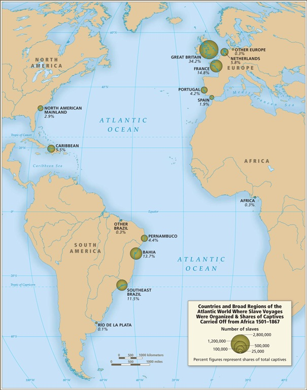 Map Of Africa During Slave Trade.Fascinating Database About The Trans Atlantic Slave Trade