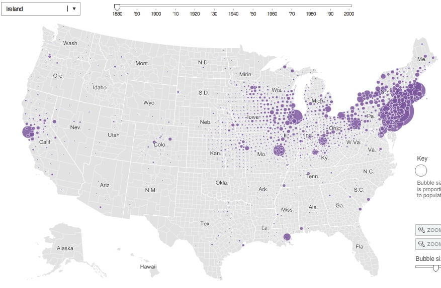 Interactive Map Of Immigrant Settlement Patterns In U S