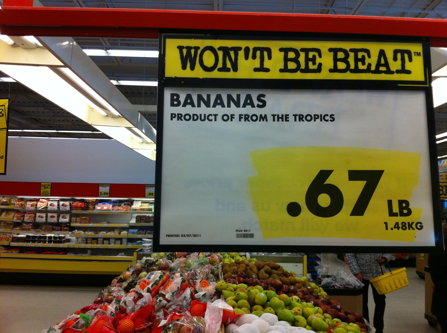 Grocery Store Ad Signs