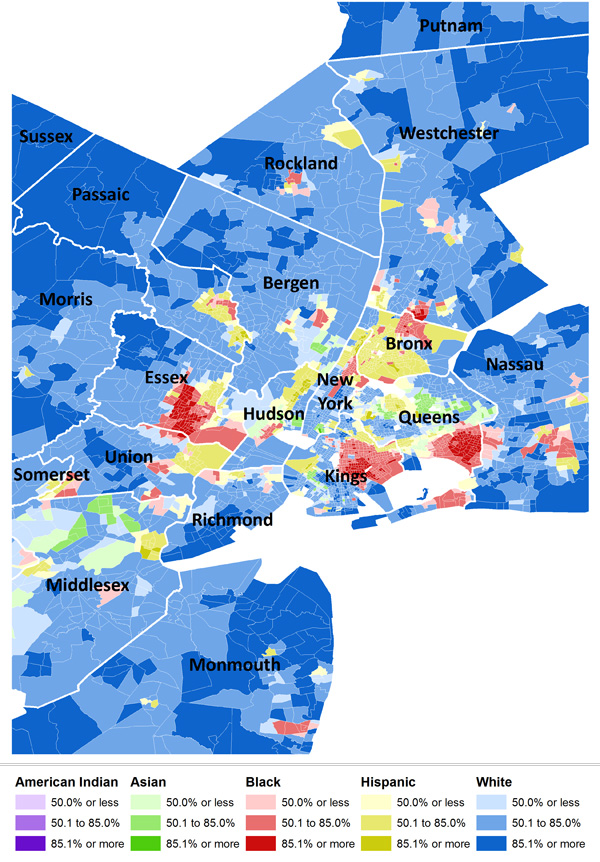 2010 Census Data On Residential Segregation Sociological Images - Map-of-segregation-in-us