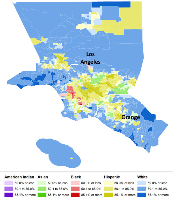 Map Of Americas Racial Segregation.2010 Census Data On Residential Segregation Sociological Images