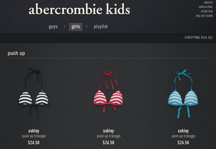 Push Up Tops At Abercrombie Kids