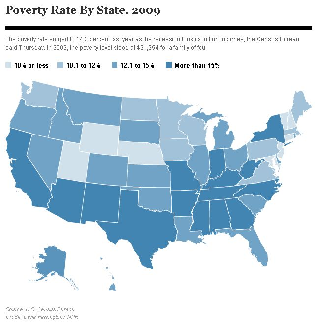 The Angry Bureaucrat CellPhoneOnly Households A Product Of - Us poverty state map