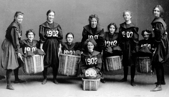 It Is All About Basketball History Of Game: Vintage Women's Basketball Teams: So Funny!