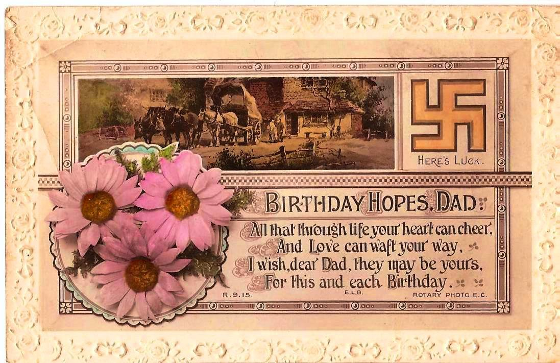 Vintage Flowers Birthday Cards ~ Old birthday card etsy