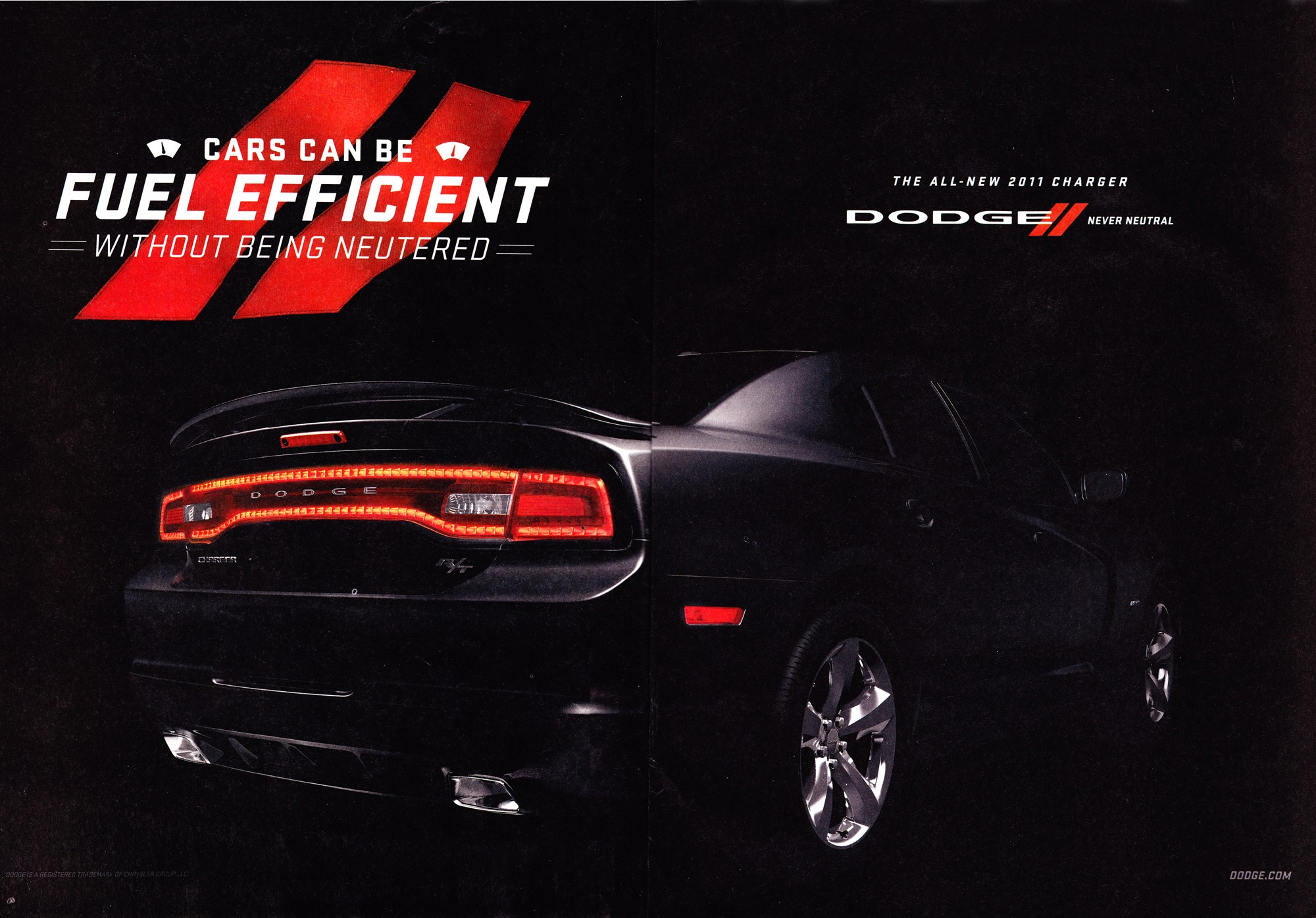 2011 Dodge Charger print advertisement  Dodge Charger Ads
