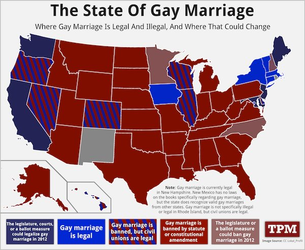 in what us states can gay couples marry