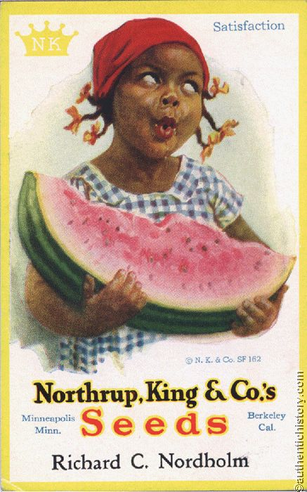 Watermelon Symbolizing The Supposed Simplicity Of Slaves