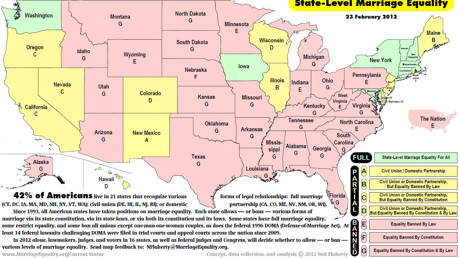 States That Allow Gay Marriage Map Updated Map of Legal Status of Same Sex Marriage   Sociological Images