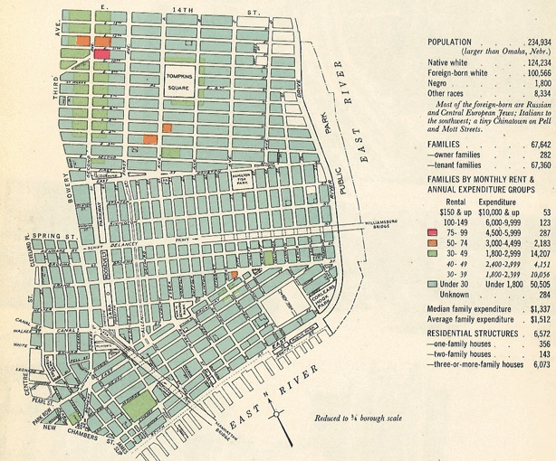 Lower East Side New York Map.1943 Map Of New York City Sociological Images