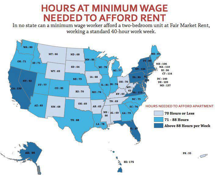 The Minimum Wage And The Cost Of Housing Sociological Images